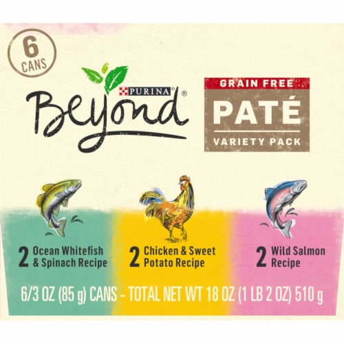 Beyond Grain Free Pate Wet Cat Food Variety Pack Perspective: right