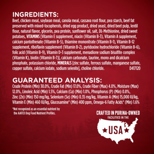 Purina ONE SmartBlend True Instinct Real Beef Grain Free Natural Dry Adult Dog Food Perspective: right