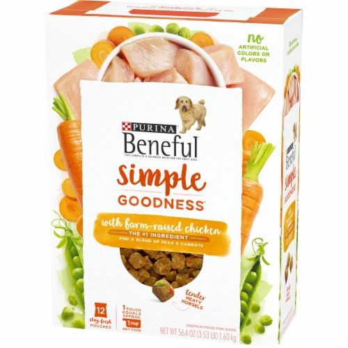 Beneful Simple Goodness with Farm Raised Chicken Adult Dry Dog Food Perspective: right