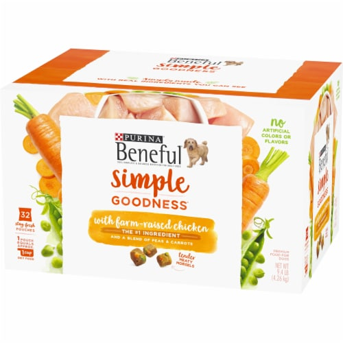 Beneful Simple Goodness Chicken Dog Food Pouches Perspective: right