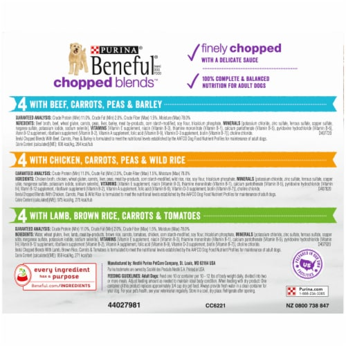 Beneful Chopped Blends Wet Dog Food Variety Pack Perspective: right
