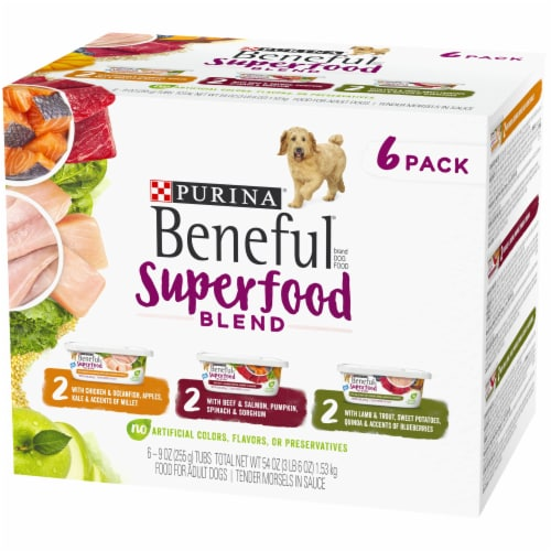Beneful Superfood Blend Wet Dog Food Variety Pack - 6 ct Perspective: right