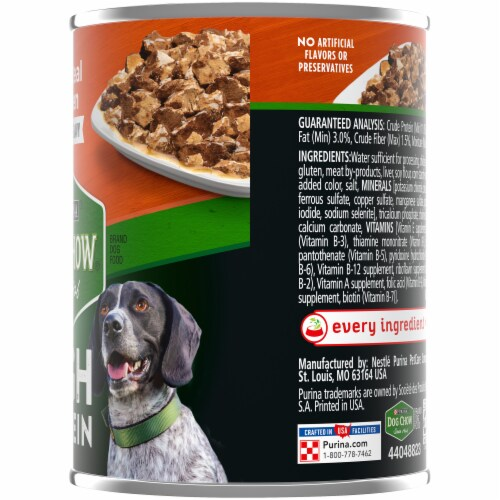 Dog Chow® High Protein with Real Chicken in Savory Gravy Wet Dog Food Perspective: right