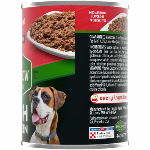 Dog Chow High Protein with Real Classic Ground Beef Wet Dog Food Perspective: right