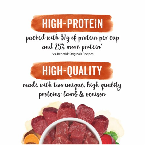Purina Beneful Natural Lamb & Venison Protein Rich Dry Dog Food Perspective: right