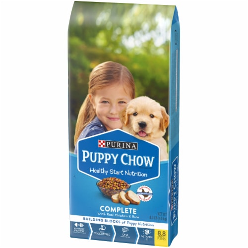 Purina Puppy Chow Healthy Start Nutrition Complete with Real Chicken & Rice Dry Dog Food Perspective: right