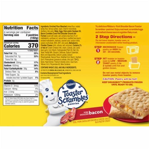 PillsburyToaster Scramble Bacon Egg & Cheese Pastries Perspective: right