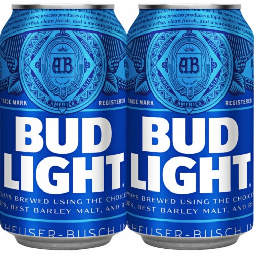 Bud Light Lager Beer Perspective: right