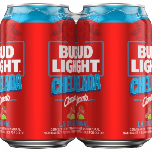 Bud Light & Clamato Chelada Flavored Lager Beer Perspective: right