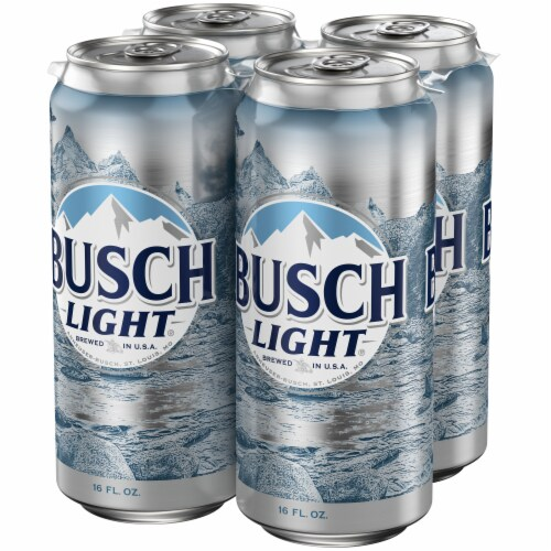 Busch Light Lager Beer Perspective: right