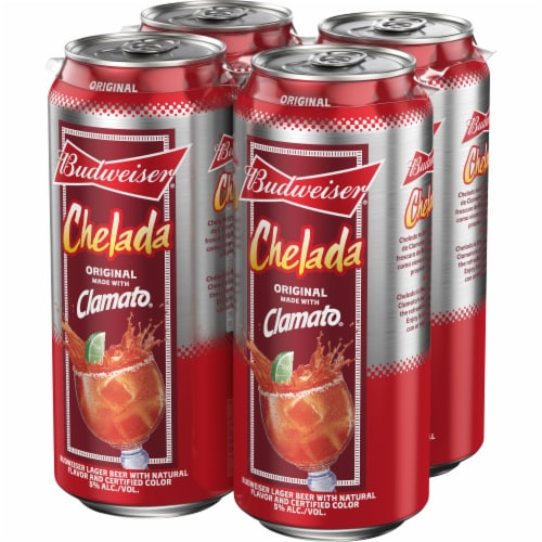 Budweiser and Clamato Chelada Beer Perspective: right