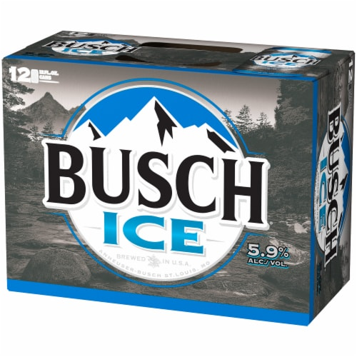 Busch Ice Lager Beer Perspective: right