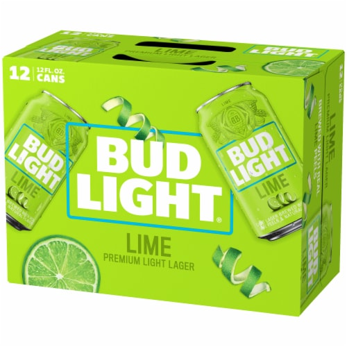 Bud Light Lime Lager Beer Perspective: right