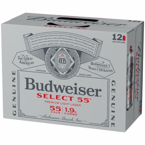 Budweiser® Select 55™ Light Lager Beer Perspective: right