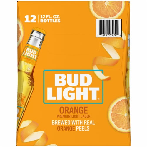 Bud Light Orange Beer Perspective: right