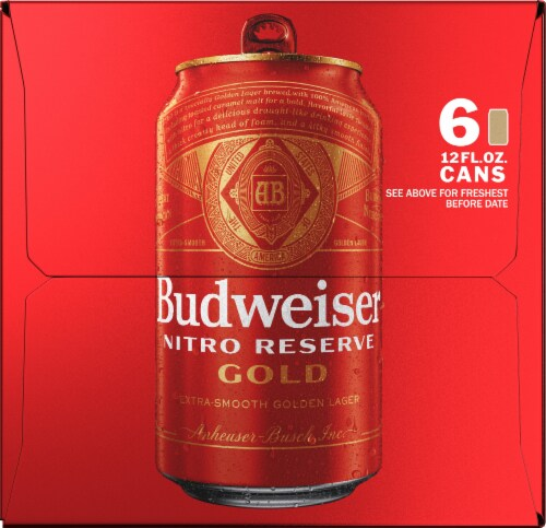 Budweiser Nitro Reserve Gold Lager Perspective: right