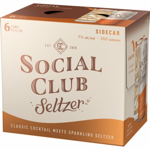 Social Club Seltzer Sidecar Hard Seltzer Cocktail Perspective: right