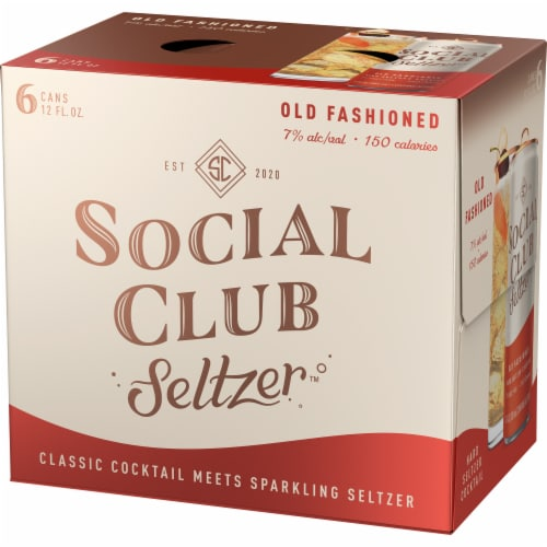 Social Club Seltzer Old Fashioned Hard Seltzer Cocktail Perspective: right