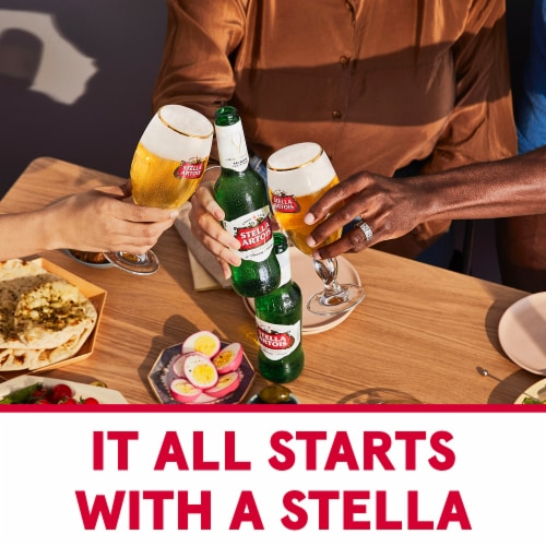 Stella Artois - 12 pack can Perspective: right