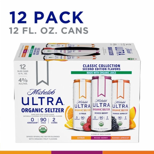 Anheuser-Busch Michelob Ultra Organic Setlzer Variety Pack Perspective: right