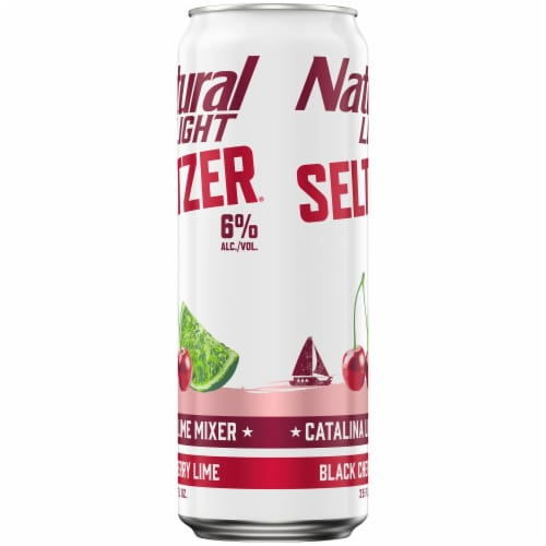 Natural Light Seltzer® Black Cherry Lime Catalina Lime Mixer Perspective: right