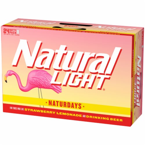 Natural Light Strawberry Lemonade Beer Perspective: right