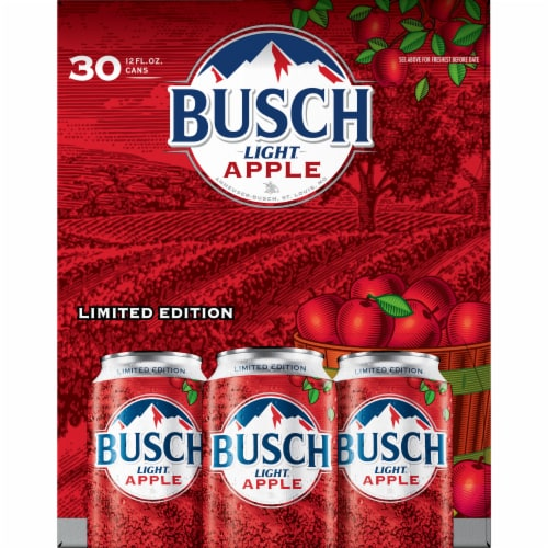Busch Light Apple Beer Perspective: right
