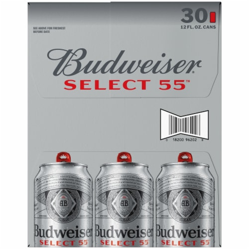 Budweiser Select 55 Light Lager Beer Perspective: right