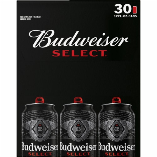 Budweiser Select Light Lager Beer Perspective: right