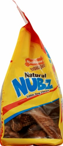 Nylabone Natural Nubz Edible Dog Chews Chicken Flavor Large Dog Treats 18 Count Perspective: right