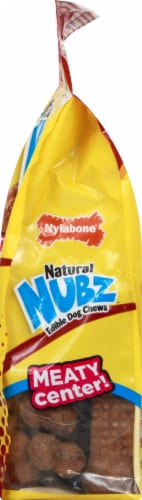 Nylabone Nubz Natural Beef Flavor Edible Dog Chews Perspective: right