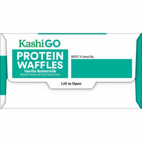 Kashi GO Vanilla Buttermilk Protein Waffles Perspective: right