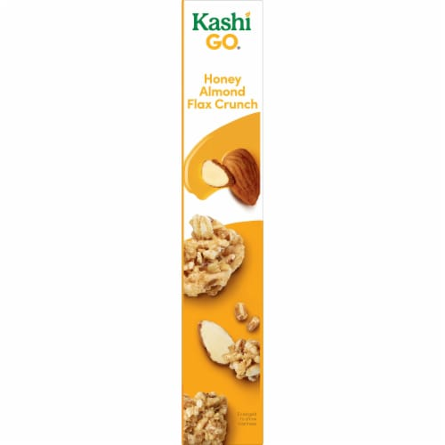 Kashi GO Non-GMO Project Verified Breakfast Cereal Honey Almond Flax Crunch Perspective: right