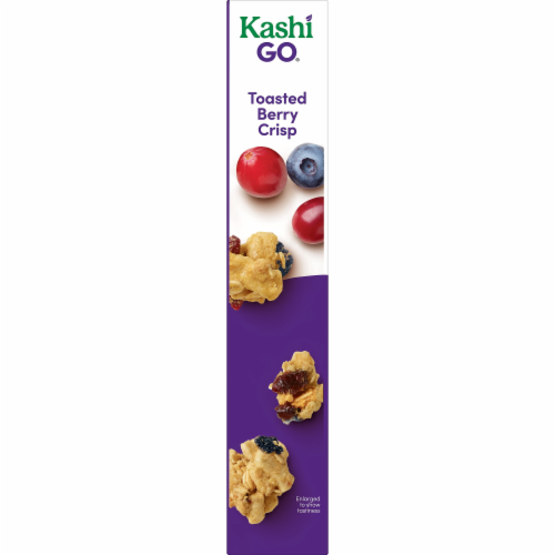 Kashi GO Non-GMO Project Verified Breakfast Cereal Toasted Berry Crisp Perspective: right
