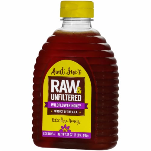 Aunt Sue's Raw & Unfiltered Pure Wildflower Honey Perspective: right