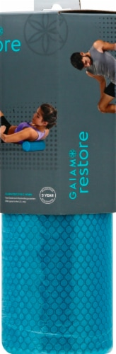 Gaiam Restore™ Compact Foam Roller - Teal Perspective: right