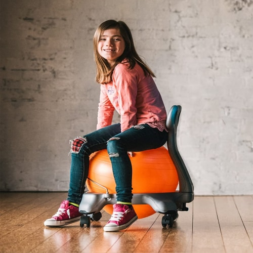 Gaiam Active Kid Classic Stability Balance Ball Chair with Reliable 4 Wheel Base Perspective: right