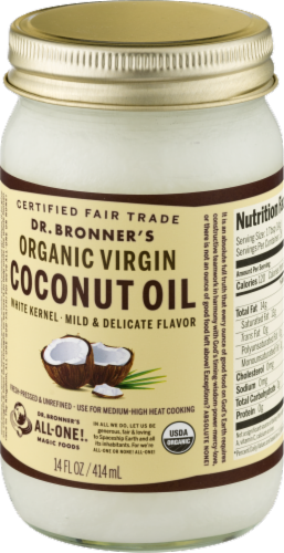 Dr. Bonner's Organic Virgin Coconut Oil Perspective: right