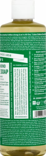 Dr. Bronner's 18-in-1 Hemp Almond Pure-Castile Liquid Soap Perspective: right