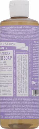 Dr. Bronner's 18-in-1 Hemp Lavender Pure-Castile Liquid Soap Perspective: right