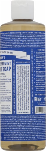 Dr. Bronner's 18-in-1 Hemp Peppermint Pure Castile Liquid Soap Perspective: right