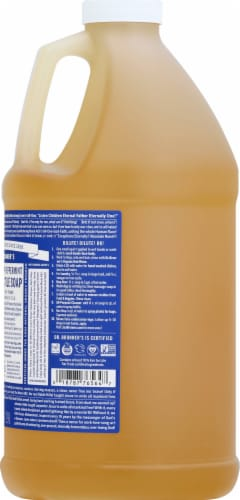 Dr. Bronner's Magic Soaps 18-in-1 Hemp Peppermint Pure-Castile Liquid Soap Perspective: right