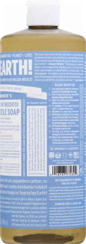 Dr. Bronner's Unscented Pure-Castile Baby Soap Perspective: right