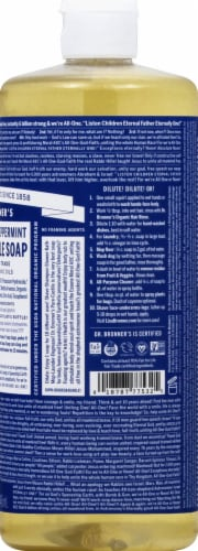 Dr. Bronner's 18-in-1 Hemp Peppermint Pure-Castile Liquid Soap Perspective: right