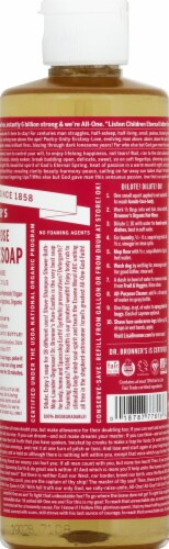 Dr. Bronner's 18-in-1 Hemp Rose Pure Castile Soap Perspective: right