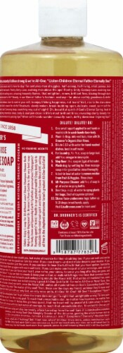 Dr. Bronner's 18-in-1 Hemp Rose Pure-Castile Liquid Soap Perspective: right