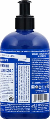 Dr. Bronner's Organic Mint Hand And Body Soap Perspective: right