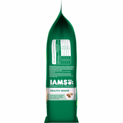 IAMS Proactive Health Healthy Senior Chicken Dry Cat Food Perspective: right