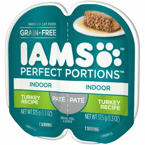 IAMS Perfect Portions Turkey Recipe Pate Indoor Wet Cat Food Perspective: right