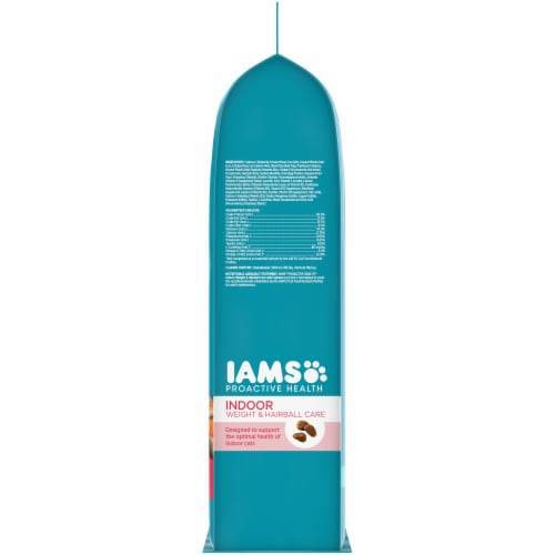 IAMS Proactive Health Salmon Indoor Weight & Hairball Care Dry Cat Food Perspective: right